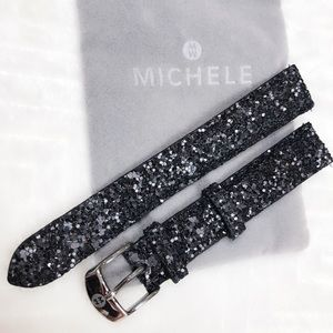 Michele sparkle watch band black glitter Ret$120